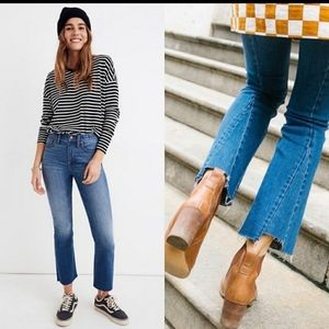 Madewell Cali Demi Boot jeans in Kemper wash 27T